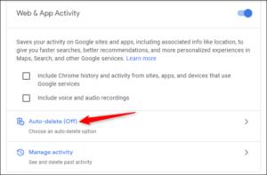 Make Google Auto-Delete Your Web History